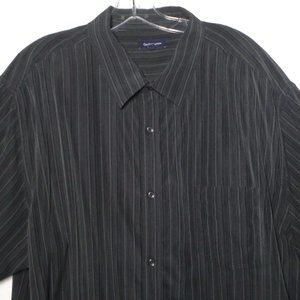 Croft & Barrow Short Sleeve Shirt Black XXL